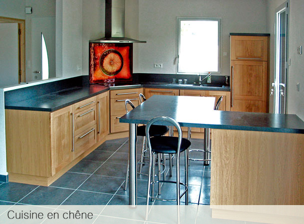atelier du garo cuisine en bois massif ch ne. Black Bedroom Furniture Sets. Home Design Ideas